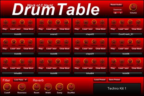 DrumTable drum sampler vst plugin