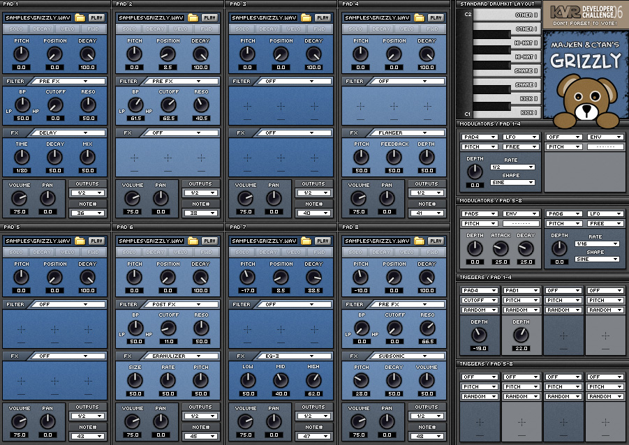 Grizzly Free Drum Machine vst plugin download
