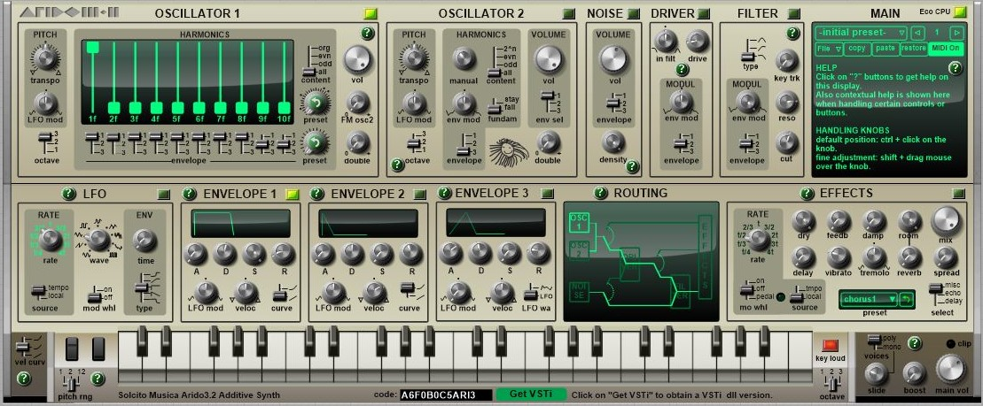 Arido 3.2 Polyphonic Synthesizer