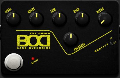TSE BOD free bass processor plugin for Windows and Mac OS X