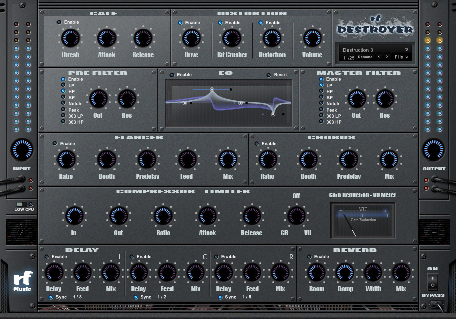rf Destroyer v1.1 - Free Multi-FX VST plugin for Windows