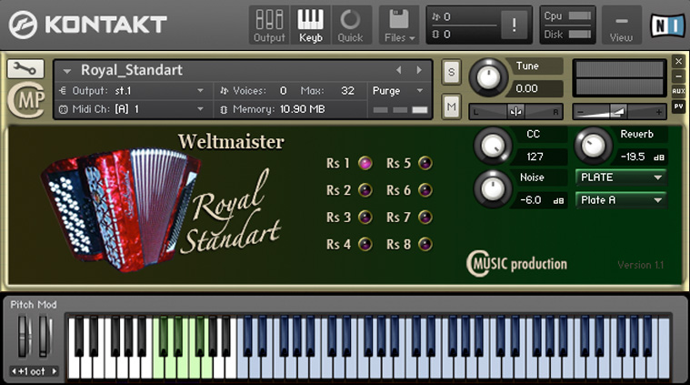 Weltmeister Royal Standart Cmusic Instrument free Accordion VST