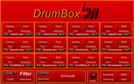 DrumBox LM: Wav drum kit free vst with 150 drum sample library presets