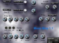 Mono Blue simple mono synth basses leads by Simon Larkin